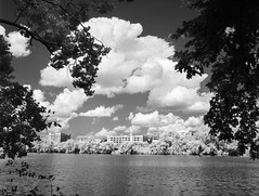 Edgeworth on the James (BlueGoo Studios) Tags: mamiya645afd ilford sfx200 infrared rva richmond jamesriver clouds water