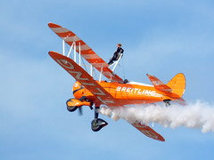 DSCN40600 (dkmcr) Tags: southportairshow southport airshow aircraft aeroplane formation display aerobatic 17th september 2017 flying breitli boeing stearman wingwalker