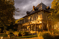 Chateau des Comtes de Challes (romanboed) Tags: leica m 240 summicron 28 europe france challes les eaux chateau hotel comtes de savoy french alps chambery travel architecture mountains village countryside golden light sunset