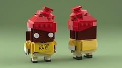 [BrickHeadz] Gorillaz: Russel (2che_4life) Tags: ldd lego blender mecabricks brickheadz gorillaz