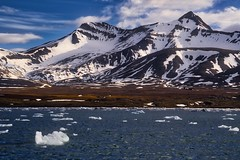Kvævefjellet Closeup (dougbank) Tags: arctic mountains ice cold water svalbard spitsbergen geology snow hdr norway