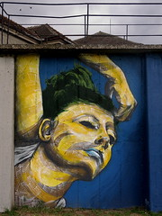 женски затвор (Беографија) Tags: bojan painting wall womanspprison portrait calligraphotrait calligraportait calligraphy art spraypaint brushes style