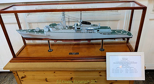 Model of HMS Amazon exhibit in one of the Museums in Portsmouth Historic Dockyard, Victory Gate, HM Naval Base, Portsmouth PO1 3LJ,  England.