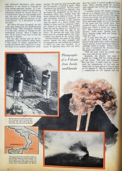 """Inside a Flaming Volcano"" by Arpad Kirner.  Page 2 of an Article in Popular Science Vol. 122, No. 4 (April 1933). (lhboudreau) Tags: pulp pulps magazine magazines magazineart art pulpart illustration illustrations drawing drawings vintagemagazine volume122number4 april1933 1933 popularscience science popularsciencemonthly popularsciencemagazine volcano makingmovies makingmoviesinavolcano fireprotection fireproof insideavolcano stromboli strombolivolcano moviemaking scientificexploration exploration insideaflamingvolcano arpadkirner scientificexplorer engineer frenchengineer article crater flaming burning fire smoke page12 text protectiveshells fireproofshells steelarmor lavabed armor sciaradelfuoco"