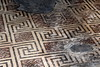 Dining hall mosaic (Davydutchy) Tags: cotswolds gloucestershire england uk chedworth yanworth roman villa archeology mosaic museum exhibition mozaiek swastika july 2017