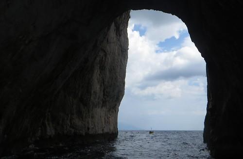 Sous I Faraglioni, côte sud, Capri, Campanie, Italie.