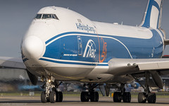 AirBridgeCargo 747-400ERF lining up taxiway Q on it's way to runway 36L (Nicky Boogaard) Tags: airbridgecargo boeing 747400 747f freighter cargo aviation canonef300mmf4l canoneos70d dmaviation diversemedia taxiwayq
