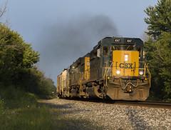 Q363-10 -  Churchville (ConnorShortPhotography) Tags: emd sd402 sd403 csxt csx ny rochester buffalo terminal subdivision rochestersubdivision q363 churchville new york train railroad