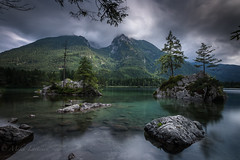 Stillness (Mika Laitinen) Tags: canon5dmarkiv europe germany hintersee leefilters calm cliff cloud color lake landscape longexposure mountain nature outdoors rock sky summer water