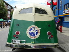 Back of the Bus (knightbefore_99) Tags: bus vintage bc back transport transit cool car free day italian commercialdrive eastvan vancouver city pacific stage lines green
