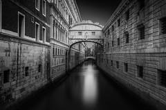 Soul diver (blondmao) Tags: fineart bridge bnw italy pontedeisospiri palazzo venezia longexposure riocanonicaopalazzo noperson prison veneto bw blackandwhite 13stopper venice
