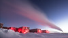 South Pole Station Exhaust (redfurwolf) Tags: southpole southpolestation antarctica antarctic snow ice station exhaust sky twilight nauticaltwilight stars night nightsky nightphotography outdoor nature building architecture powerplant redfurwolf sonyalpha a99ii sal1635f28za sony ngc