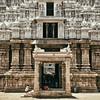 The White Gopuram. (Prabhu B Doss) Tags: prabhubdoss temple gal kid elephant sculptures architecture vishnu hindu temples oneplusfive shotononeplus oneplus5