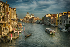 Canal Grande in the Evening Light (guenterleitenbauer) Tags: 2017 august berge familie guenter günter hasselblad leitenbauer montana sommer urlaub wels berg ferien flickr foto fotos gunskirchen image imagesphoto imagesi italia italien italy lagune mountain mountains photos picture pictures summer tirol tyrol venedig venetia veneto venice academia canal grande santa maria della salute evening abend abendrot licht light