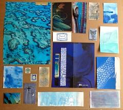 """""""Brown paper bag"""" BLAU (MKP-0508) Tags: blau blue bleu paperswap brownpaperbag papier paper august2017 cmwd cmwdblue azur swap"""