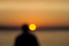 Sunrise And Somebody (pni) Tags: myopia myopic nearsight sightseeing nearsightseeing unsharp blur focus bokeh light bubble sunrise sky dawn morning penzance uk17 cornwall uk england unitedkingdom coast seaside pekkanikrus skrubu pni