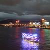Tour boat (Roving I) Tags: tourism boats lighting cloud lights weather nightlife danang vietnam