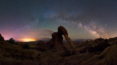 Land Before Time (Darkness of Light) Tags: elephant rock arch valley fire nevada arizona milkyway milky way state park moapa st thomas overton arm lake mead moon glow stars pano panorama zeiss batis sony a7r2