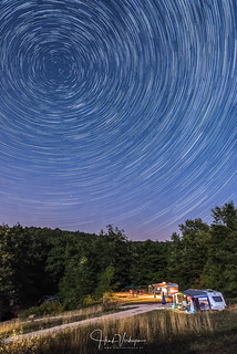 Startrails above our camping site - Toscany, Italy