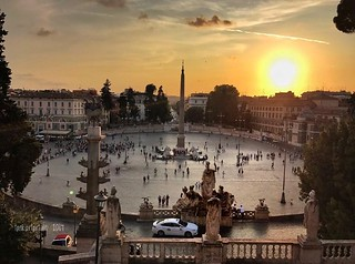 Sunset : Piazza del Popolo, Rome