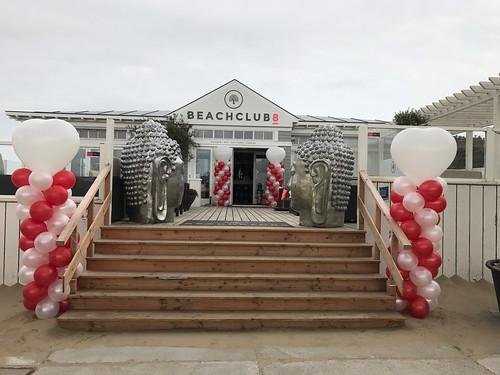 Ballonpilaar Breed Hart Beachclub 8 Rockanje