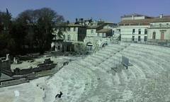 Tribüne (Grüner Nomade) Tags: frankreich provence arles römischestheater tribüne 201603