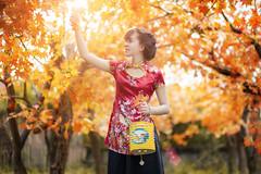 Mid Autumn Festival Concept (M.A.X Photography) Tags: canon 6d 85mm 18 autumn festival yellow portrait vietnam quidoli suon sam flower outdoor