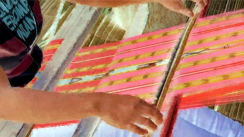 Indonesia - Flores - Traditional Village Bena - Weaving - 54bb