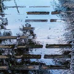 水様=Appearance of water-147/The geometry that melted in nature (kouichi_zen) Tags: water geometry square wave blue shadow ripple