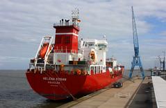 HELENA KOSAN - IMO 9342396 in Cuxhaven (cuxclipper ) Tags: helenakosanimo9342396 tanker lpg tankschiff lauritzen kosan cuxhaven ship vessel schiff