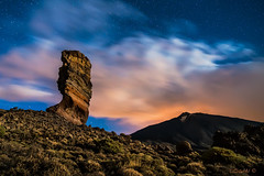 Carved at the whim of the elements. (darklogan1) Tags: nightphotography lava tenerife longexposure stars logan darklogan1 night outdoor rock clouds teide roquecinchado volcano canaryislands spain distagon21 sonya7r2 sonyilce7rm2