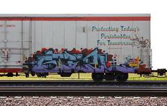 Steel (quiet-silence) Tags: graffiti graff freight fr8 train railroad railcar art steel msk d30 dirty30 cryx cryo cryotrans insulated boxcar cryx6074