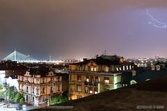 20170503-2059 (srkirad) Tags: lightning cloudy night city bridge adabridge dark lights travel skyline belgrade beograd serbia srbija outdoor longexposition storm
