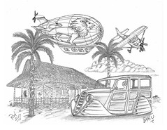 BAKU (rod1691) Tags: bw scifi grey concept custom car retro space hotrod drawing pencil h2 hb original story fantasy funny tale automotive art illistration greyscale moonpies sketch