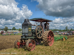 Rumely Oil Pull (David Clippinger) Tags: tractorshow tractor plowing lagrange lagrangeindiana northeastindianasteamandgasassn rumely oilpull rumelyoilpull tractorshows rumelyoilpullmodelf