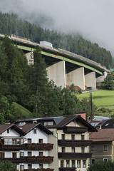 (Boris Zhigun) Tags: eurostars fujifilm xe1 xmount tyrol alps austria mountains forest trees landscape buildings matrei am brenner truck overpass