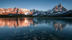 Mount Cervino on lake Goillet - Italy (MarcoZaffignani) Tags: cervino cervinia goillet nikond90 nd1000filter longexposure italy valdaosta sunrise wonderpana fotodiox ndgraduatedfilter