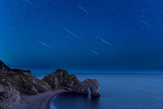 Perseids over Durdle Door