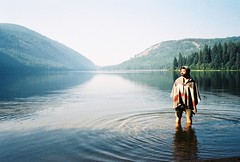 untitled (What fools these Mortals be!) Tags: poncho wildswimming cascadiaexplored hellobc pnwcollective conklelake stylusepicdlx colorplus200 film 35mm enjoybeing