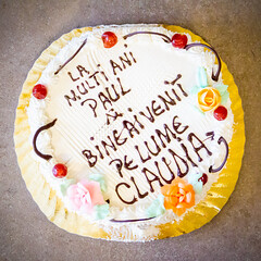 Welcome home cake (Paul Istoan) Tags: cake sweet welcome home delicious