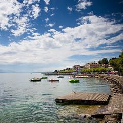 Swiss (Zeeyolq Photography) Tags: boats city lacléman lake leman nyon suisse swiss switzerland vaud ch