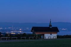 La chapelle de Champellant en fin de nuit  Féternes gavot Chablais Haute Savoie (roland.grivel) Tags: ciel chapelle nuit gavot féternes lac champellant alpes jura 74 chablais