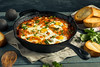 Homemade Saucy Shakshuka with Eggs (brent.hofacker) Tags: appetizer background breakfast brunch cooked cuisine delicious dish egg egyptian food fried garlic gourmet green healthy herb homemade israeli lunch meal morning moroccan pan parsley pepper poached red rustic sauce shakshouka shakshuka shakshukah spices tomato traditional tunisian vegetable vegetarian yellow yolk