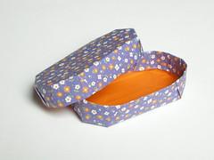 Oblong box & lid (Mélisande*) Tags: mélisande origami box a