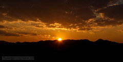 Sunset In the mountain. Golden Triangle. Thailand, Myanmar & Laos border