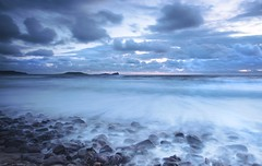 High tide at blue hour - Explore 10 September 2017 - thanks! (Jo Evans1 - Back after a long break!) Tags: rhossili beach gower long exposure blue hour high tide pebbles worms head