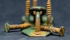 Rusty Garden Bits... (Aleem Yousaf) Tags: rust macromondays latch garden screws macro nikon d800 105mm metal indoor photography