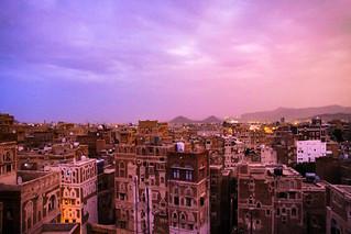 Sunset over Sanaa