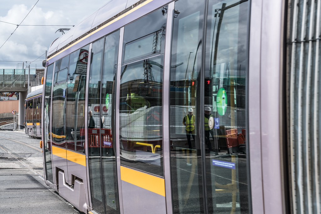 THE NEW LUAS TRAM STOP AT BROADSTONE [TESTING PHASE UNTIL EARLY DECEMBER]-1324706