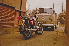 Honda and VW (nikomat74) Tags: honda cb200 motorcycle vw volkswagen van transporter camper 1977 1970 vehicles